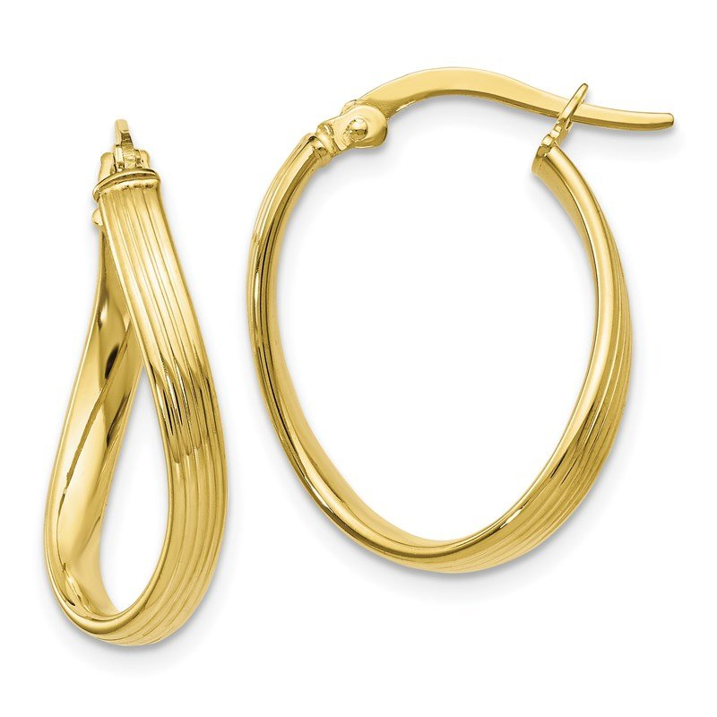 Leslie's Leslie's 10K Polished Hinged Hoop Earrings