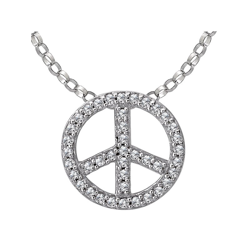 Tesoro Diamond Peace Pendant