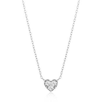 Sophie | Diamond Heart Necklace
