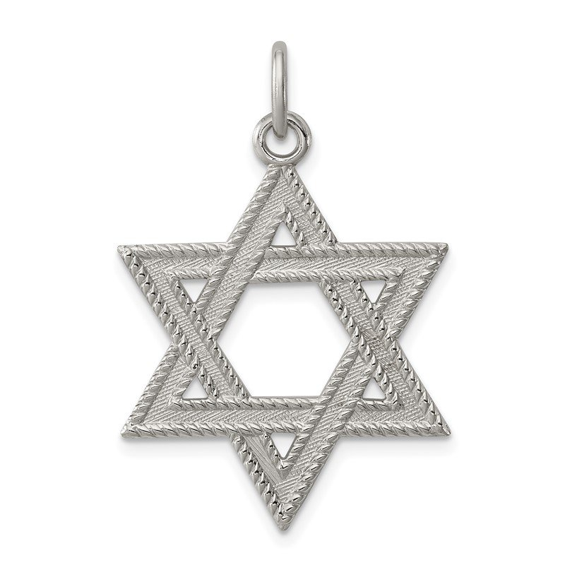 Quality Gold Sterling Silver Star of David Charm