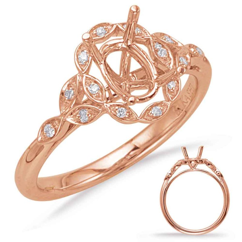 S. Kashi & Sons Bridal Rose Gold Halo Engagement Ring