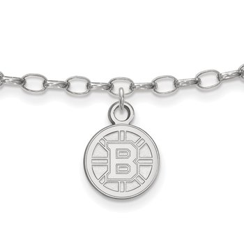 Sterling Silver Boston Bruins NHL Bracelet