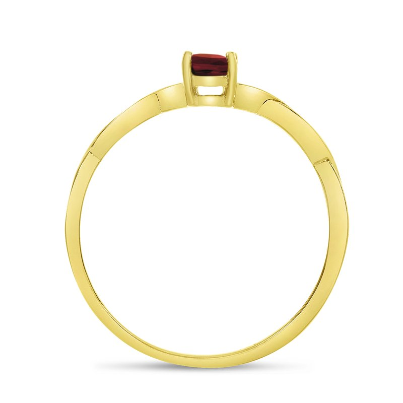 Color Merchants 14k Yellow Gold Oval Garnet Ring