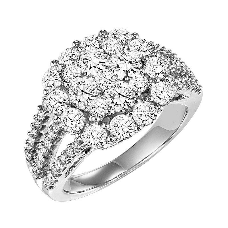 Bridal Bells 14K Diamond Ring 3 ctw