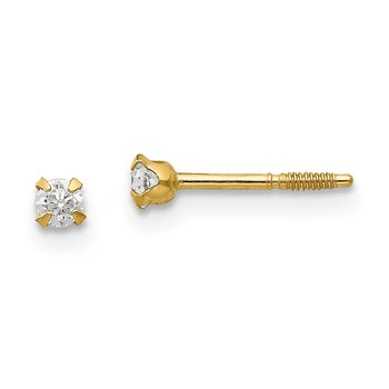 14k Madi K 2.25mm CZ Baby Earrings