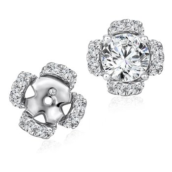 Diamond Earring Jacket in 14K White Gold (.29 ct. tw.)