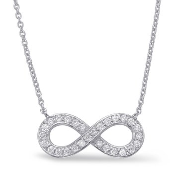 White Gold Infinity Sign Necklace