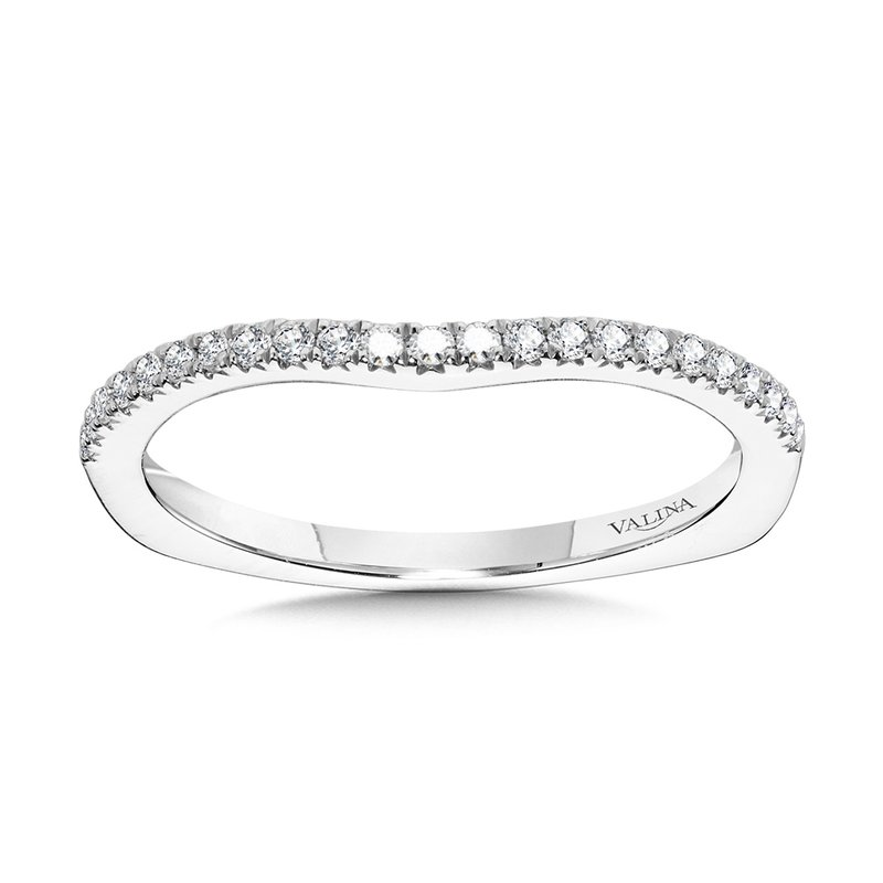Valina Curved Diamond Wedding Band