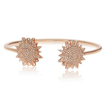 Rose Gold & White Diamond Bangle