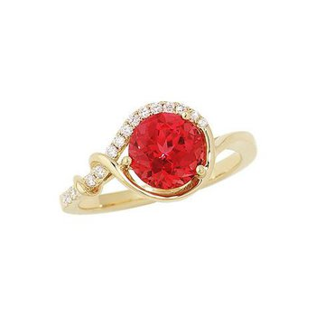 Padparadscha Ring-CR8242YPD