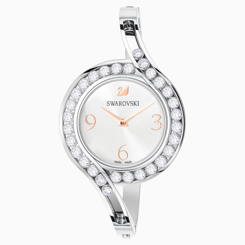 Swarovski Lovely Crystals Bangle Watch, Metal bracelet, White, Stainless steel