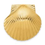 Quality Gold 14K Fits Up To 8mm and 10mm Medium Scallop Shell Slide