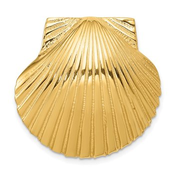 14K Fits Up To 8mm and 10mm Medium Scallop Shell Slide