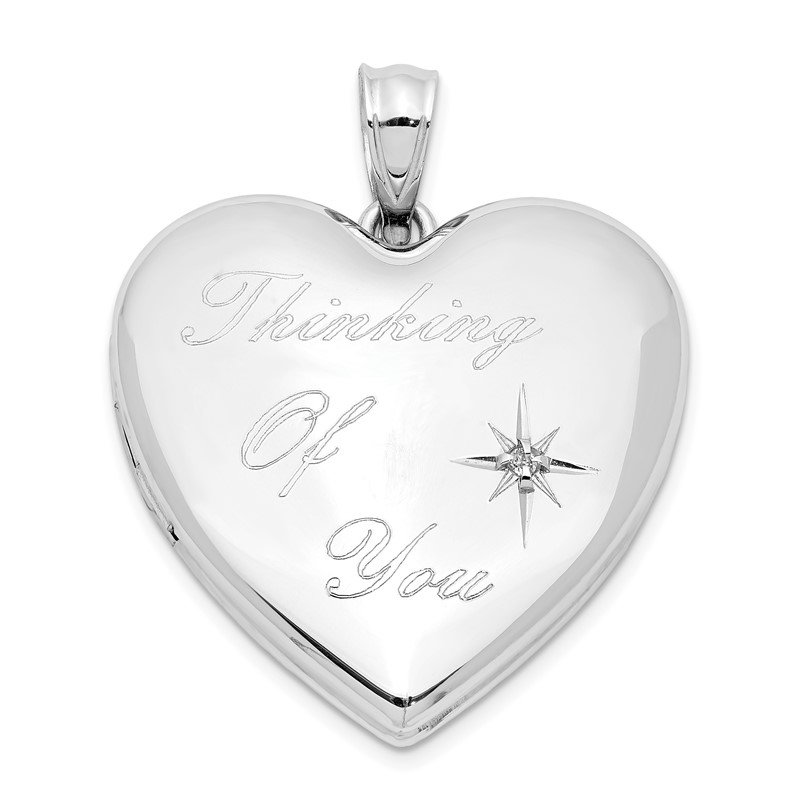 Quality Gold Sterling Silver Rhodium-plate Thinking of.. Diamond Ash Holder Heart Locket