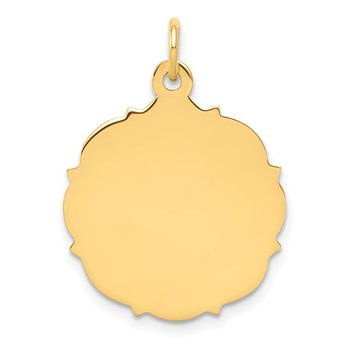 14k Plain .013 Gauge Engravable Disc Charm