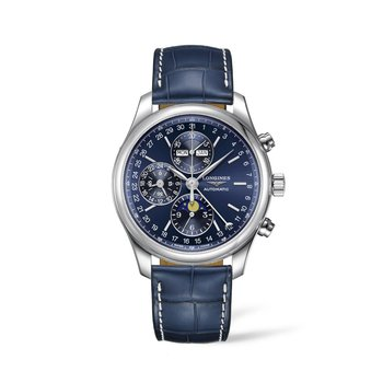 Longines Master Collection - Blue Automatic 44mm - Alligator Watch Strap