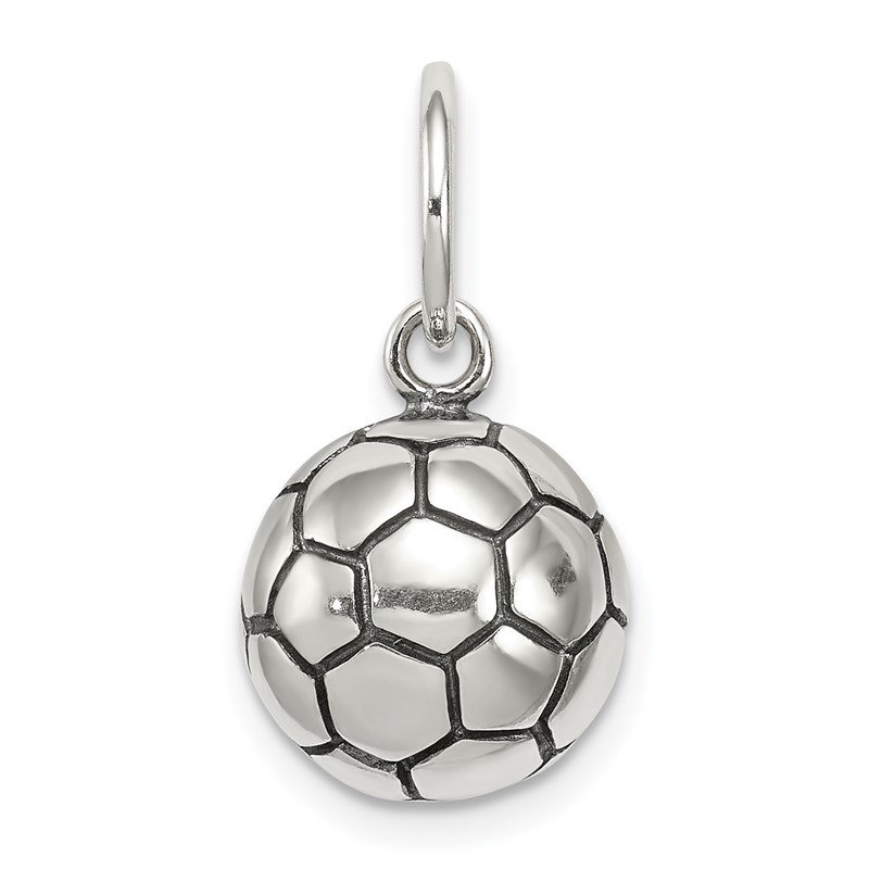 Quality Gold Sterling Silver Antique Soccer Ball Charm