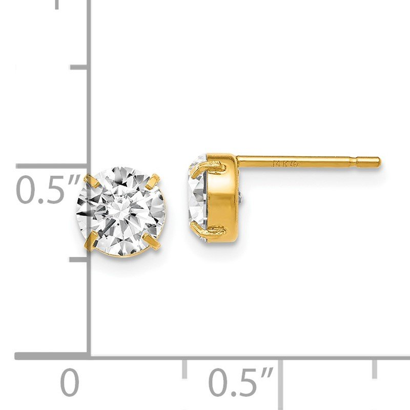 Leslie's Leslies 14k CZ Stud 6.0mm Earrings