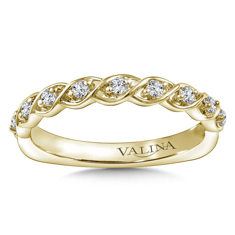 Valina Stackable Wedding Band in 14K Yellow Gold (.15 ct. tw.)