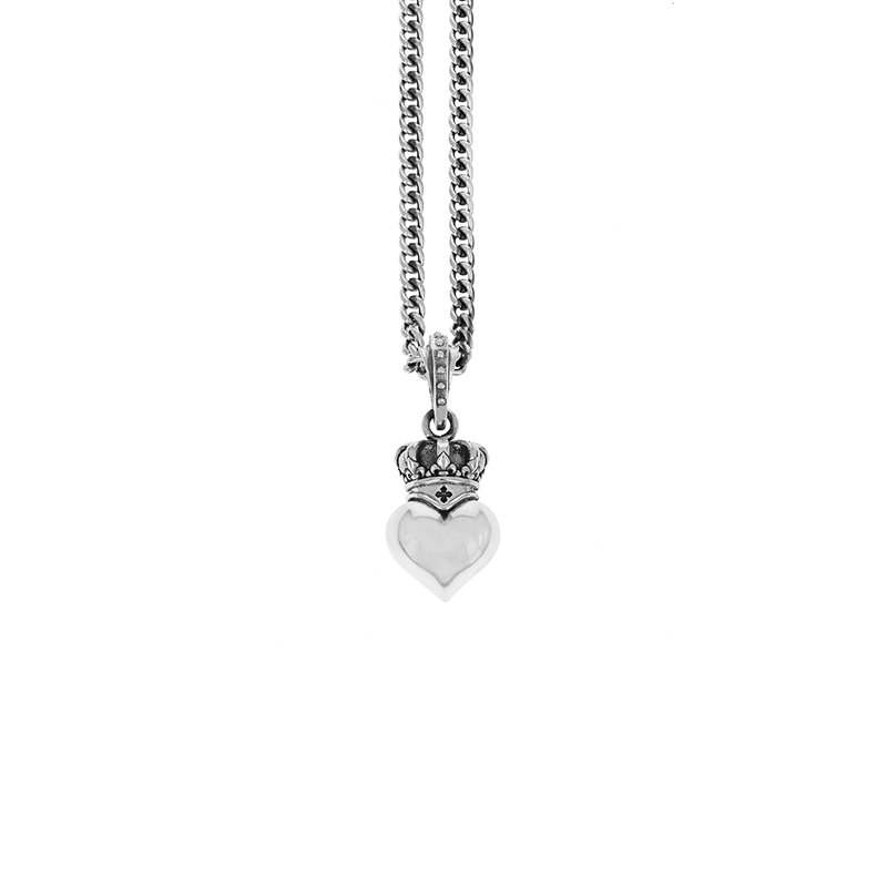King Baby Crowned Heart Pendant
