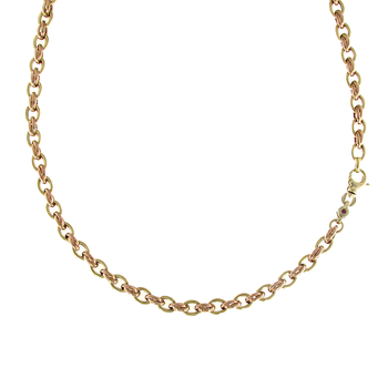 18KT YELLOW AND ROSE GOLD LINK NECKLACE