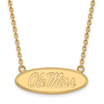 Gold University of Mississippi NCAA Necklace