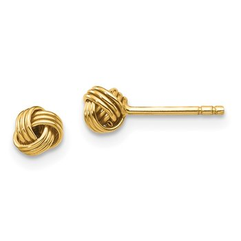 14k Madi K Polished Love Knot Post Earrings