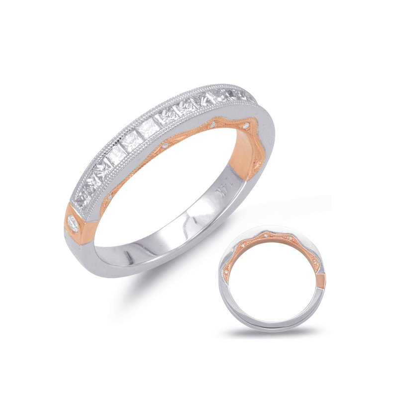 S. Kashi & Sons Bridal White & Rose Gold Matching Ban