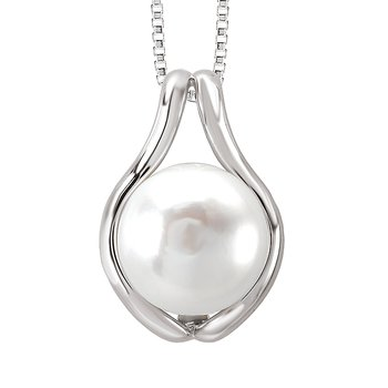 SILVER FW CULTURED PEARL PEND.13-14MM BUTTON PEARL