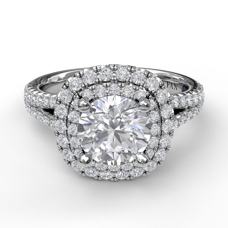 Fana Elegant Double Halo Engagement Ring