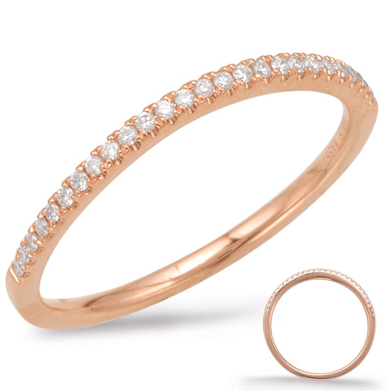 S. Kashi & Sons Bridal Rose Gold Curve Matching Band