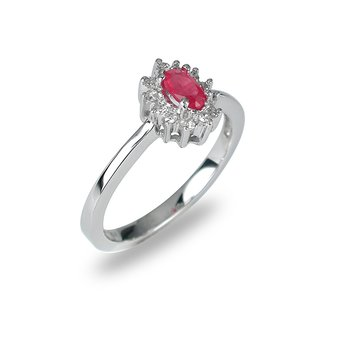 14K WG Ruby and Diamond All Purpose Ring