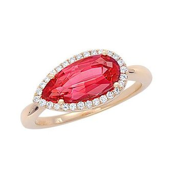 Padparadscha Ring-CR10427YPD