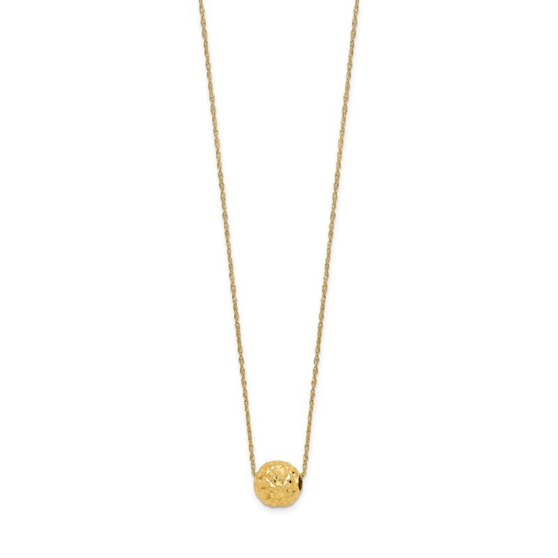 Quality Gold 14k Bead Necklace