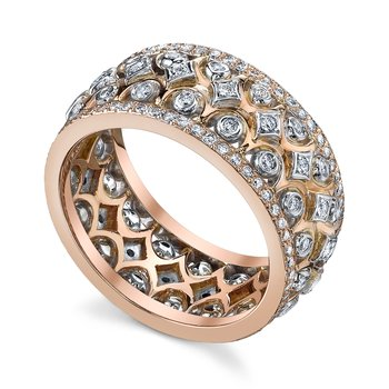 Quintessa Rose Gold Flatband