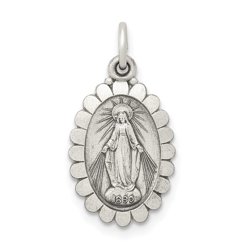 Lester Martin Online Collection Sterling Silver Antiqued Miraculous Medal
