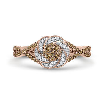 10K Rose Gold 1/2 ct Diamond Fashion Ring
