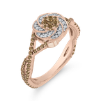 Essentials 10K Rose Gold 1/2 ct Diamond Fashion Ring