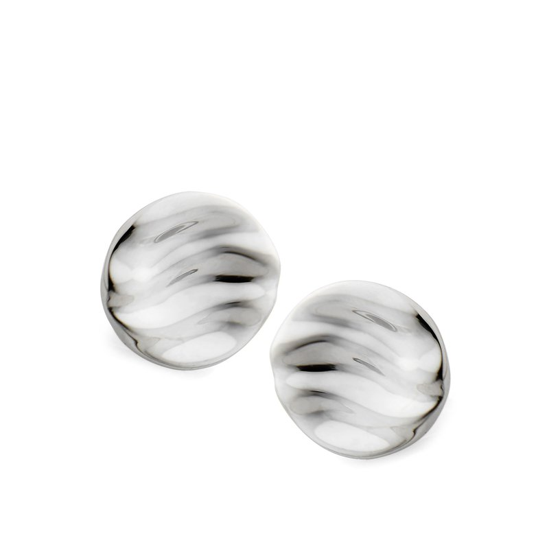 Nambé Jewelry Rippled Stud Earrings