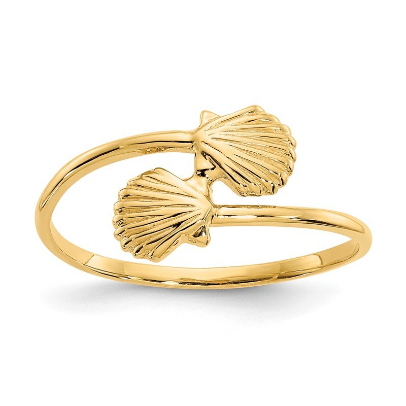 Quality Gold 14k Polished Shells Ring