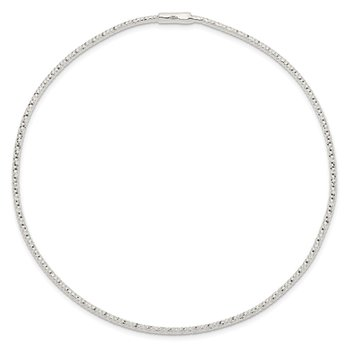 Sterling Silver 1.25 mm Diamond Cut Bangle
