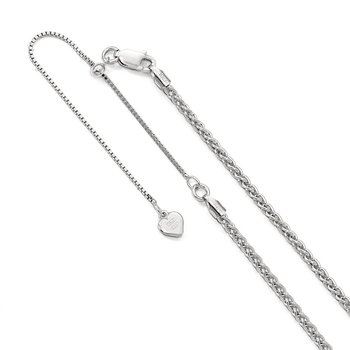 Leslie's Sterling Silver 2.5 mm Adjustable Spiga Chain