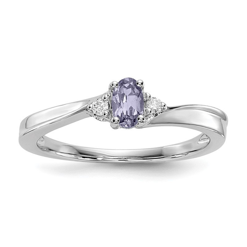 Quality Gold Sterling Silver Rhodium-plated Created Alexandrite Birthstone Ring