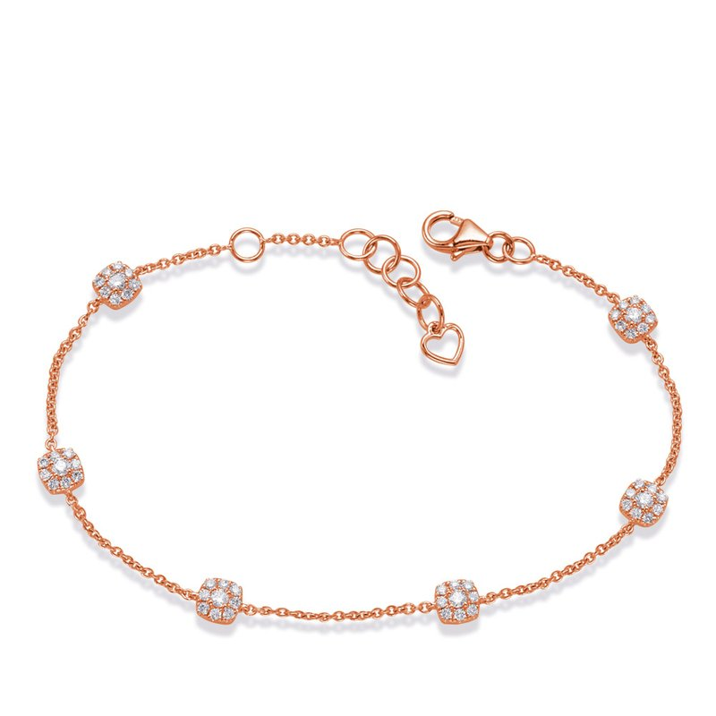 S. Kashi  & Sons Rose Gold Diamond Bracelet