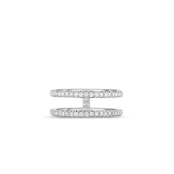 2 Row Ring With Diamonds &Ndash; 6.5