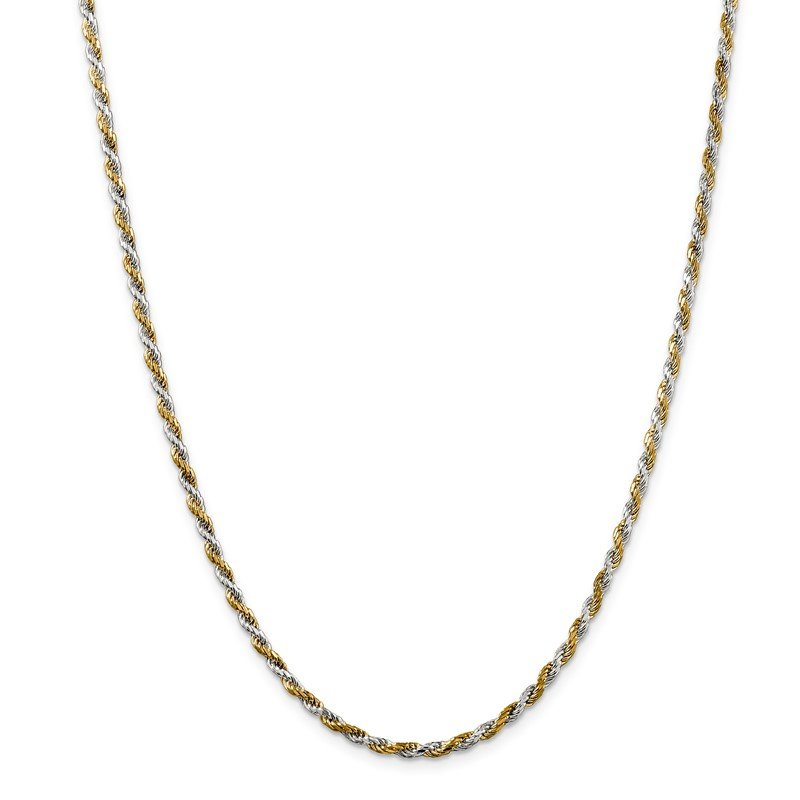 Quality Gold Sterling Silver And Vermeil 2.5mm Diamond-cut Rope Chain