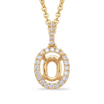 Diamond Pendant For 9x7mm oval Center