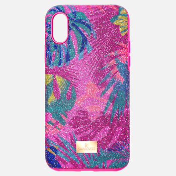 Tropical Smartphone Case with Bumper, iPhone® XS Max, Dark multi-colored