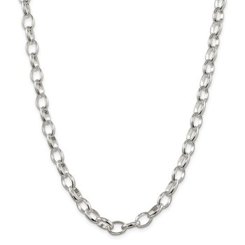 Sterling Silver 8mm Fancy Rolo Chain
