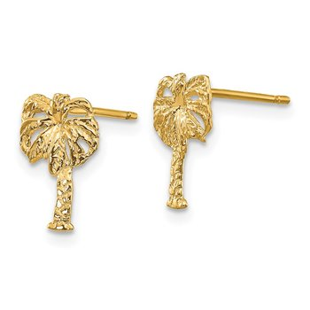 14k Palm Tree Post Earrings